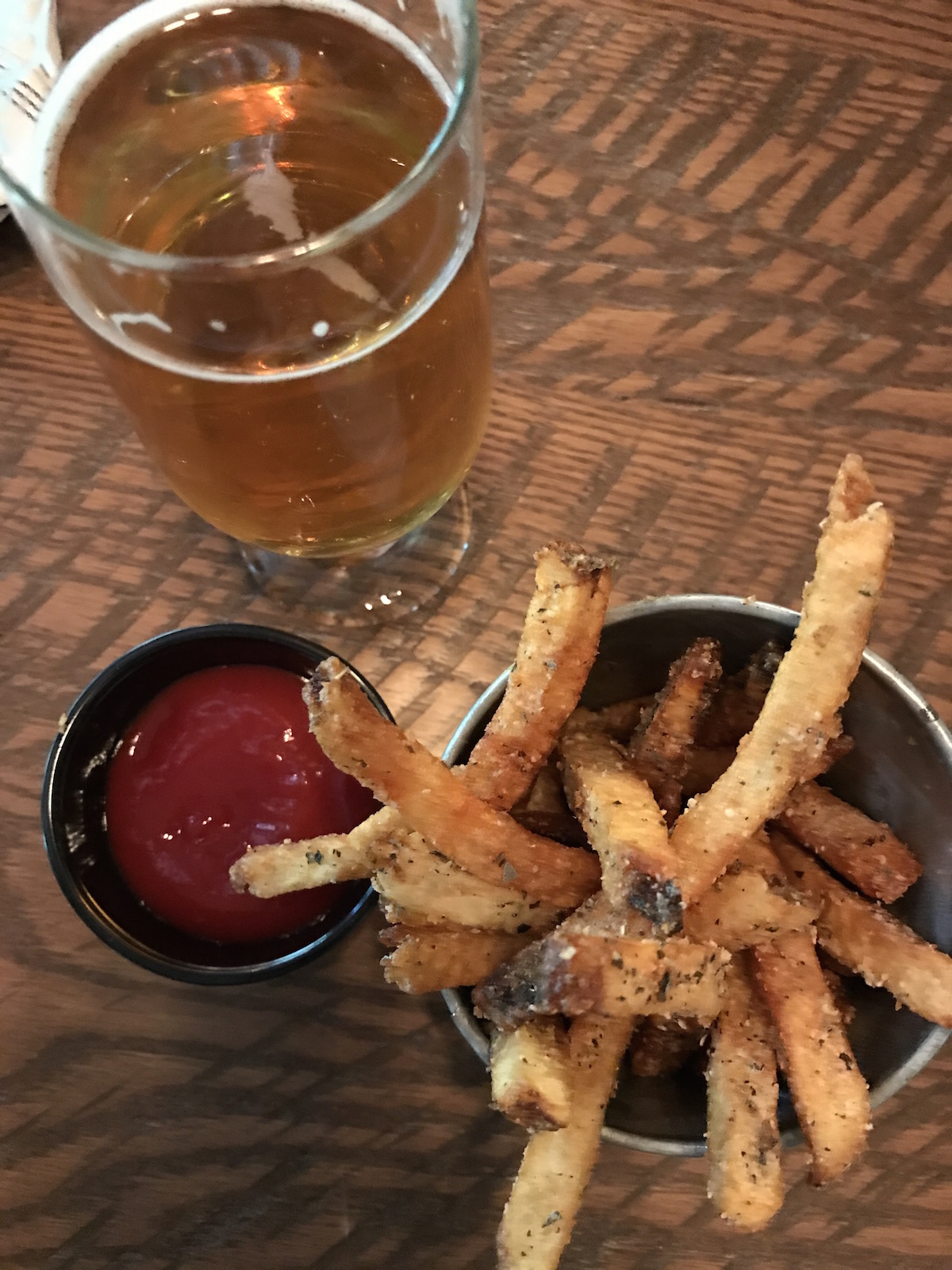 Pommes Frites and Beer at The Foundry