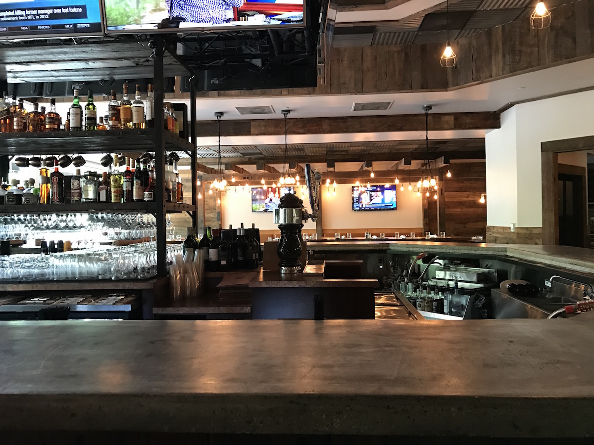 The bar at The Foundry in the North Shore