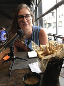 Madeline Quigley FryDaysinPGH Podcast Recording at BRGR