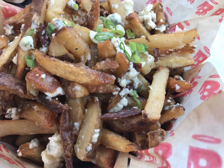 Truffle gorgonzola fries at Burgatory Bar in the North Shore