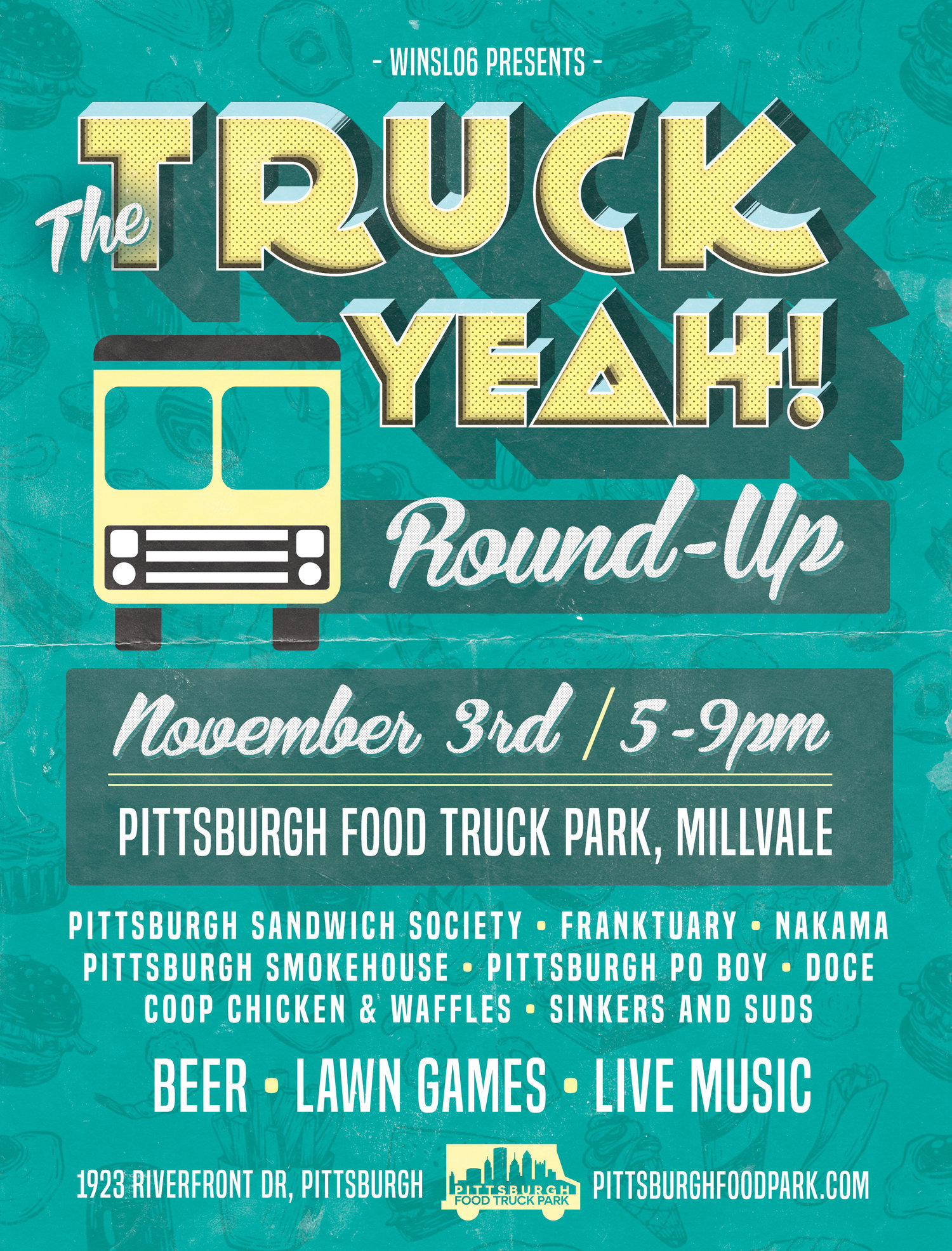 Truck Yeah Preview Party and Round Up at Pittsburg Food Truck Park located in Millvale Riverfront Park